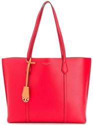 Tory Burch Perry Triple Compartment Tote Red