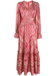 Three Floor Fantastic Printed Maxi Dress Pink