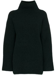 Jacquemus Ribbed Turtleneck Jumper Green
