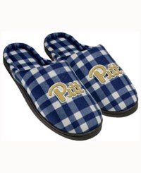 Forever Collectibles Pittsburgh Panthers Flannel Slide Slippers Navy