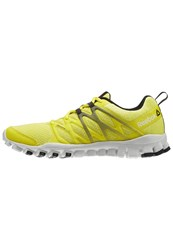 Reebok Realflex Train 4.0 Sports Shoes Hero Yellow Skull Grey Coal