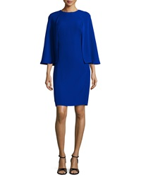 Tadashi Shoji Cape Sleeve Sheath Dress Mystic Blue