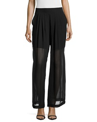 Philosophy Sheer Wide Leg Chiffon Pants Blackbird