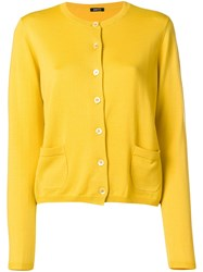 Aspesi Cropped Cardigan Yellow And Orange