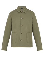 A.P.C. Kerlouan Cotton And Linen Blend Field Jacket Khaki