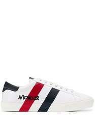 Moncler Striped Lo Top Sneakers White
