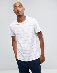 Pull And Bear Pullandbear T Shirt In Pink White Stripe Past.Pink