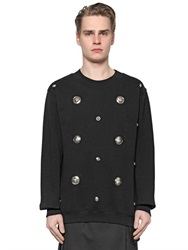 Versus Lion Studded Cotton Sweatshirt