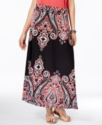 Inc International Concepts Petite Paisley Print Maxi Skirt Only At Macy's Placed Paisley
