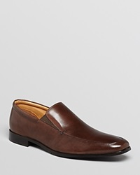Gordon Rush Elliot Leather Apron Toe Loafers Chocolate