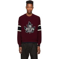 Dsquared2 Burgundy Knit Sweatshirt