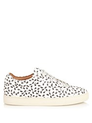 Paul Smith Ants Print Leather Low Top Trainers