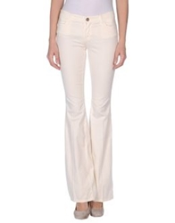 Twin Set Jeans Casual Pants Ivory