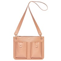 Modalu Carter Leather Shoulder Bag Dusky Pink