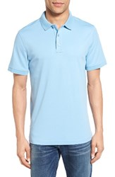 Nordstrom Men's Big And Tall Men's Shop Slim Fit Interlock Knit Polo Blue Dusk