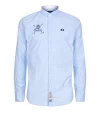 La Martina Chambray Shirt Male Light Blue