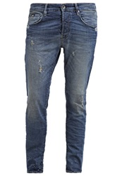 Gas Jeans Gas Raul Slim Fit Jeans Blue Destroyed Denim