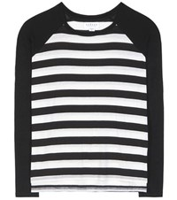 Velvet Belmont Striped Raglan T Shirt Black