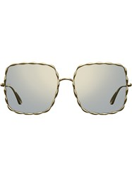 Elie Saab Square Sunglasses Metallic