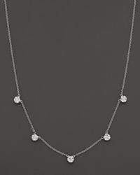 Bloomingdale's Diamond Necklace In 14K White Gold 0.75 Ct. T.W. No Color