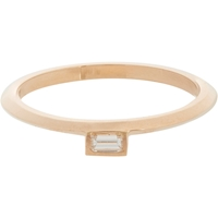 Monique Pean Baguette Diamond And Rose Gold Suspension Stacking Band
