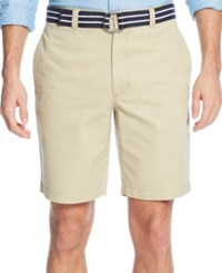 Club Room Men's Flat Front Shorts Only At Macy's Creek Bed