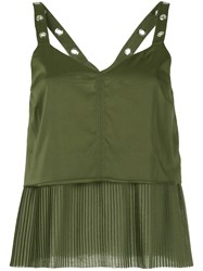 Aalto Layered Vest Women Polyester Acetate 38 Green