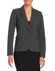 Marc New York Pinstriped Two Button Blazer Black Light Grey