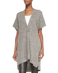 Eileen Fisher Kimono Sleeve Organic Linen Wool Cardigan Women's