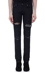 Saint Laurent Men's Low Rise Skinny Jeans Black