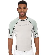 O'neill Hammer Short Sleeve Crew Lunar Light Olive White Men's Swimwear