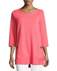 Neon Buddha Newport Lightweight Ribbed Top Plus Size Coral
