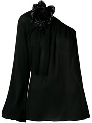 Elie Saab Georgette Blouse Black