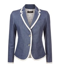Max Mara Weekend Linen Blazer Female Blue