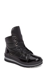 Jog Dog Women's Waterproof Quilted Black And Gold Sneaker Boot