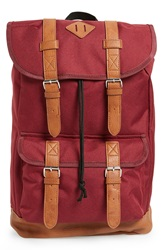Topman 'Explorer' Backpack Burgundy