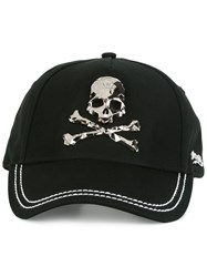 Philipp Plein Skull And Crossbones Plaque Cap Black