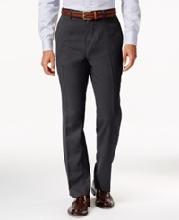 Louis Raphael Hidden Extention Straight Fit Dress Pants Charcoal