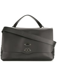 Zanellato Stud Detail Large Bag Leather Metal Other Black