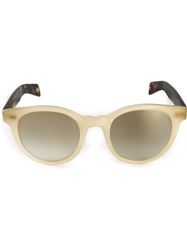 Garrett Leight Contrast Frame Sunglasses Nude And Neutrals