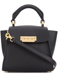 Zac Posen Mini 'Eartha Iconic Top Handle' Crossbody Bag Black