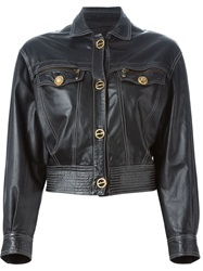 Versace Vintage Cropped Jacket Black
