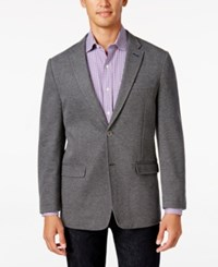 Tommy Hilfiger Men's Slim Fit Gray Knit Soft Sport Coat Grey
