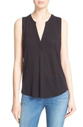 Women's Soft Joie 'Mikal' Split Neck Sleeveless Top