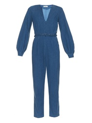 Rachel Comey Zip Front Denim Jumpsuit