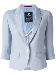 Loveless 3 4 Sleeve Blazer Blue