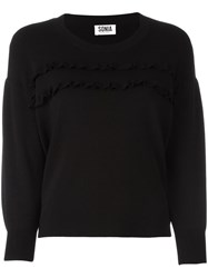 Sonia Rykiel By Ruffled Detailing Sweatshirt Black