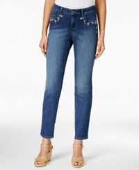 Styleandco. Style And Co. Curvy Fit Embroidered Skinny Ankle Jeans Only At Macy's Copper