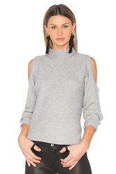 1.State Cold Shoulder Sweater Gray