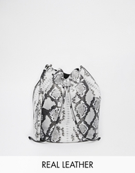 Whistles Bucket Bag Blackwhitesnake